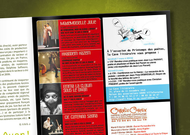 Encart presse paru dans le magazine Kiblind.